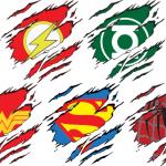 Superhero Torn tops