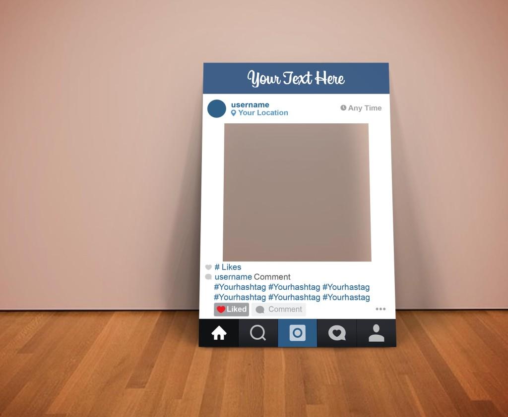 Instagram frame psd mockup 1024x842