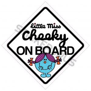 Little Miss Cheeky On Board 138x138