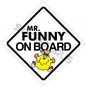 Mr Funny On Board 138x138