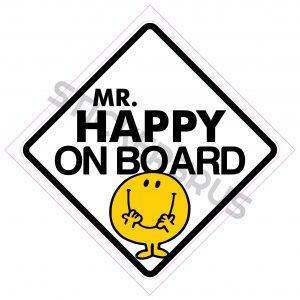 Mr Happy On Board 138x138
