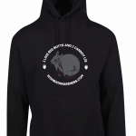 Wombat Awareness Black Hoodie