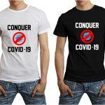 Conquer COVID Tshirt Mockup