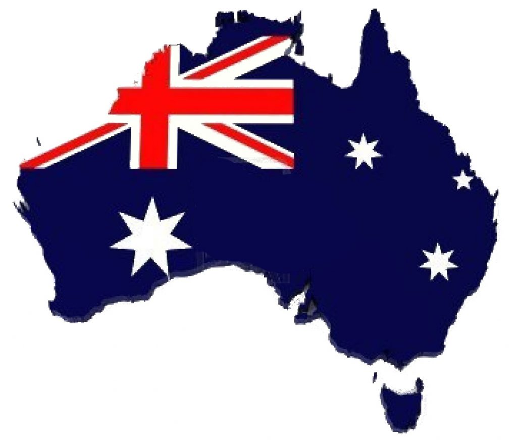 Retail Tshirt Shop Flag Australia map logo