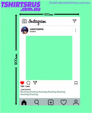 Instagram Photobooth 2020 blank mockup