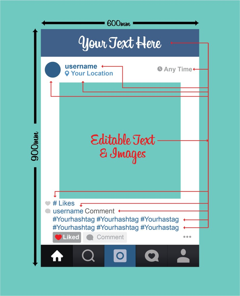 Instagram Photobooth Scale and editable