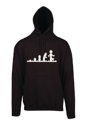 Lego Evolution Brown Hoodie Front
