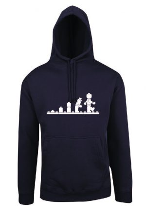 Lego Evolution Charcoal Hoodie Front