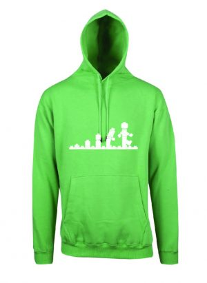 Lego Evolution Emerald Green Hoodie Front