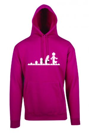 Lego Evolution Hot Pink Hoodie Front