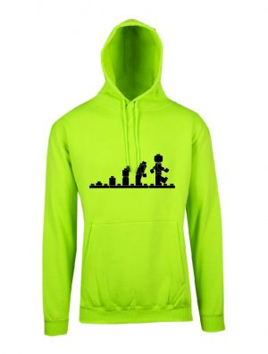Lego Evolution Lime Hoodie Front