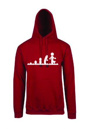Lego Evolution Red Hoodie Front