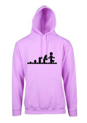 Lego Evolution Soft Pink Hoodie Front