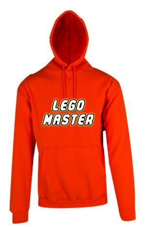 Lego Master Orange Hoodie Front