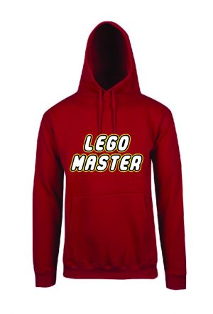 Lego Master Red Hoodie Front