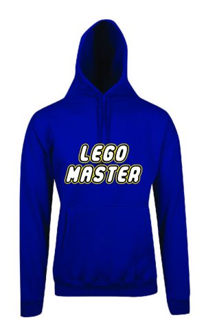 Lego Master Royal Blue Hoodie Front