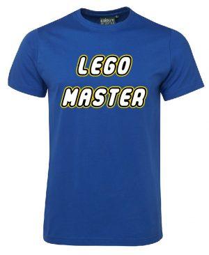 Lego Master Royal Blue Mockup T-shirt