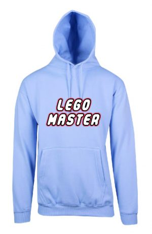 Lego Master Sky Blue Hoodie Front