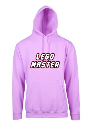 Lego Master Soft Pink Hoodie Front