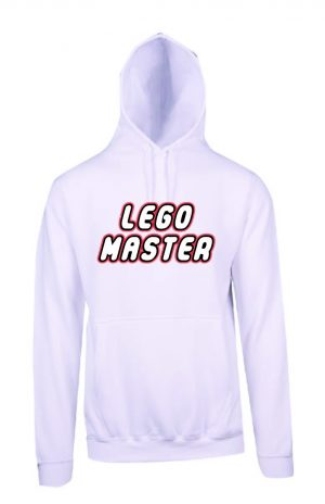 Lego Master White Hoodie Front
