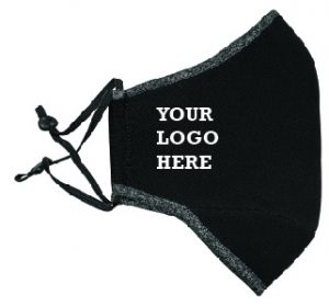 Mask Dark Marle Black Adj Strap with Logo