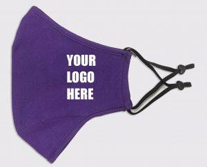 Mask Purple Adj Strap with Logo