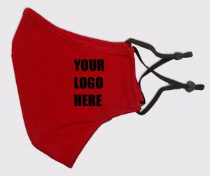 Mask Red Adj Strap with Logo