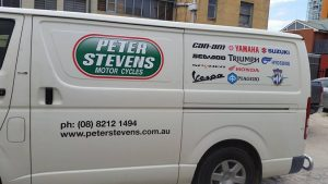 Request a quote Stickers on Van Example