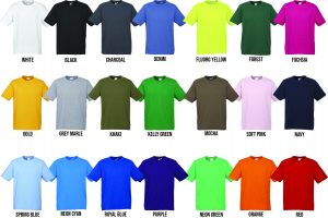 T100 Kids and Mens Colour Range