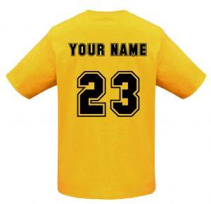 T10012 Gold Tshirt BACK Print Mockup