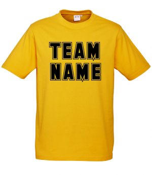 T10012 Gold Tshirt Front Mockup