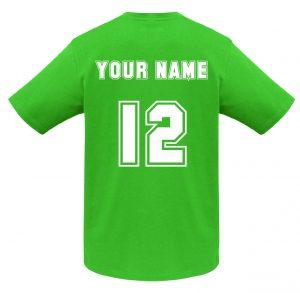 T10012 Kelly Green Tshirt BACK Print Mockup