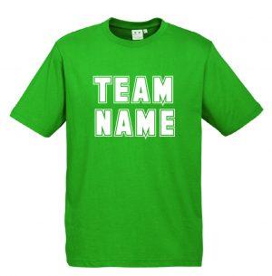 T10012 Kelly Green Tshirt Front Mockup