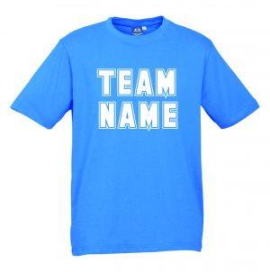 T10012 Neon Cyan Tshirt Front Mockup