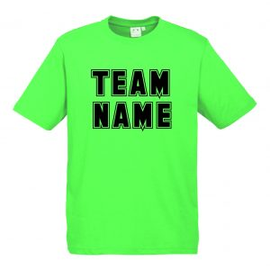T10012 Neon Green Tshirt Front Mockup