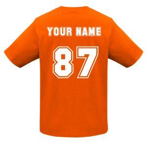 T10012 Orange Tshirt BACK Print Mockup