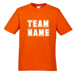 T10012 Orange Tshirt Front Mockup