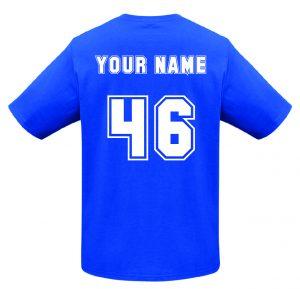 T10012 Royal Blue Tshirt BACK Print Mockup