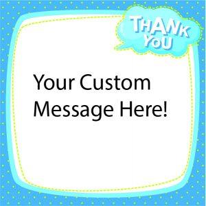 Thankyou blue border dots