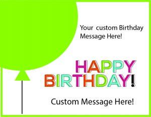 birthday balloon cards green