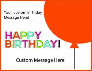 birthday balloon cards orange