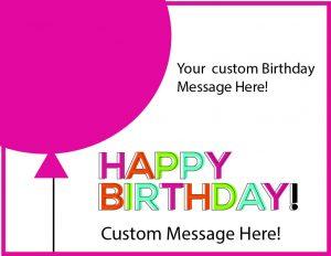birthday balloon cards pink